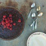Čokoladni tart s malinama