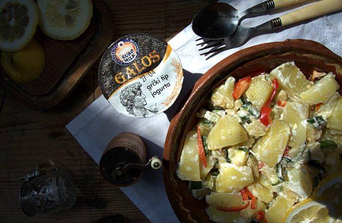 Krumpir salata s grčkim jogurtom