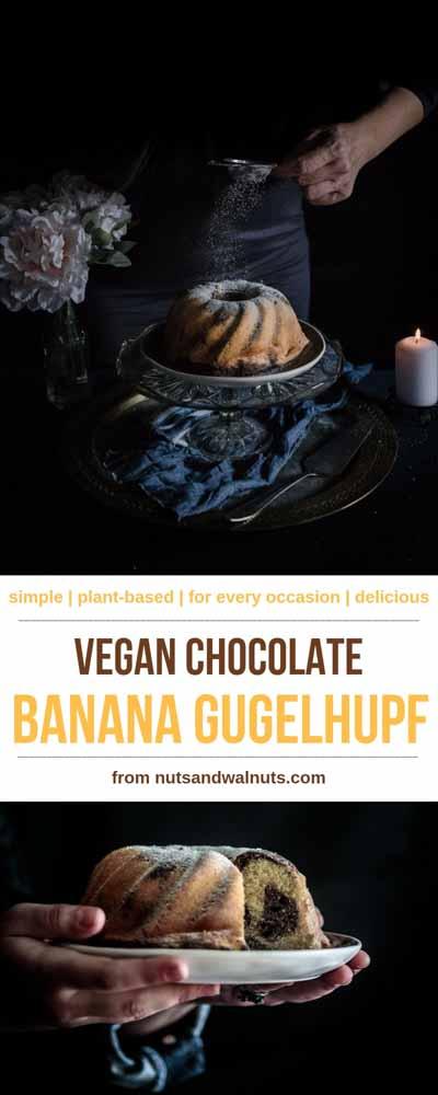 """Čokoladni banana kuglof obogatit će svaku trpezu! Slatka i kremasta banana i svilenkasta čokolada stvaraju mramorni """"look"""". Svi će tražiti još jednu krišku!"""